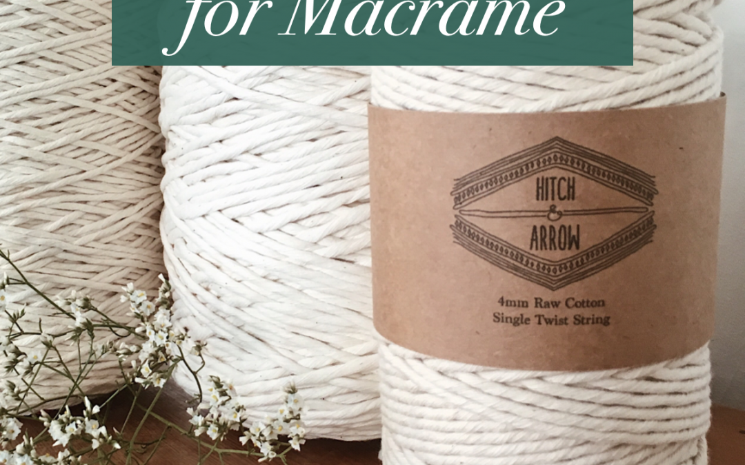 How to Measure Rope for Macrame